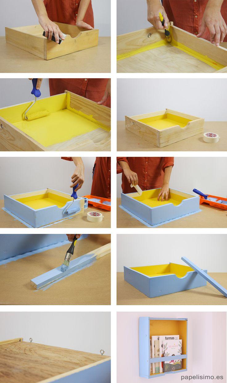 como-hacer-estanteria-con-cajon-reciclado-diy-drawer-shelf