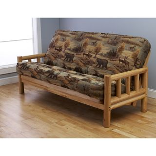 Aspen Lodge Natural Futon Frame and Full-size Mattress Set | Overstock.com Shopping - Great Deals on Futons