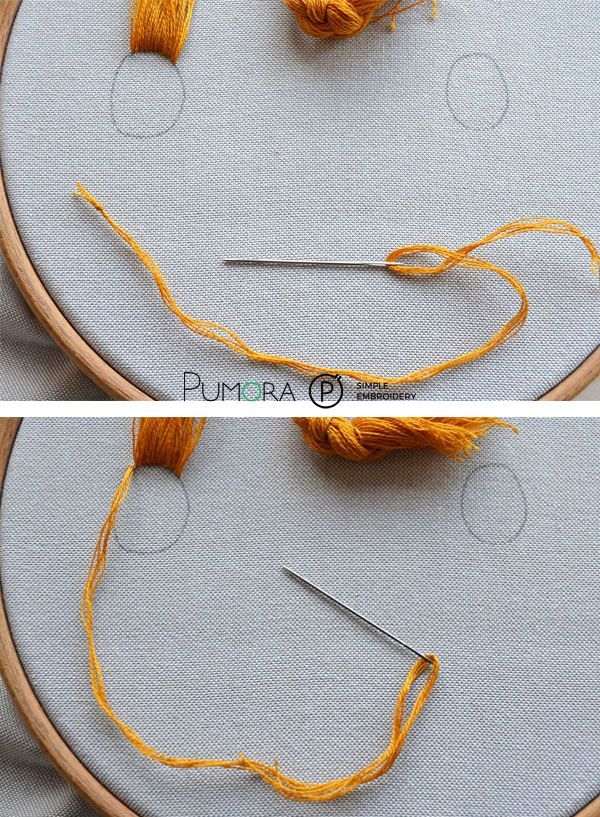 how to embroider hair tutorial #embroidery #handembroidery ...