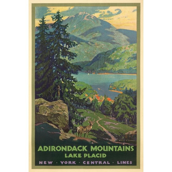 NY Central Lines Adirondack Mts Greene Vintage Ad (Light Switchplate Cover)