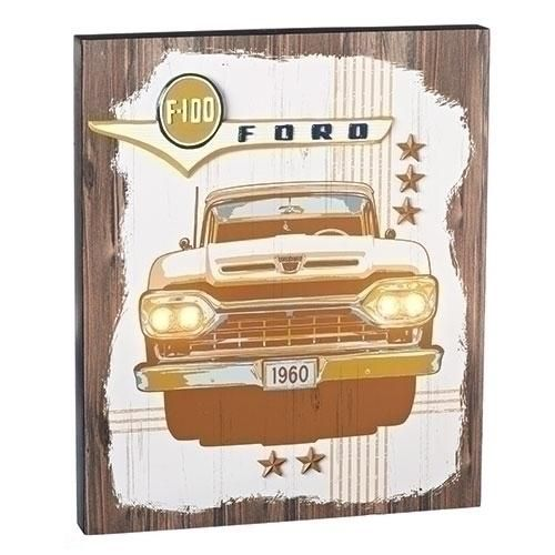 1960 Ford Pick Up Truck F-100 Wall Plaque Ford Motor Company Led Lights