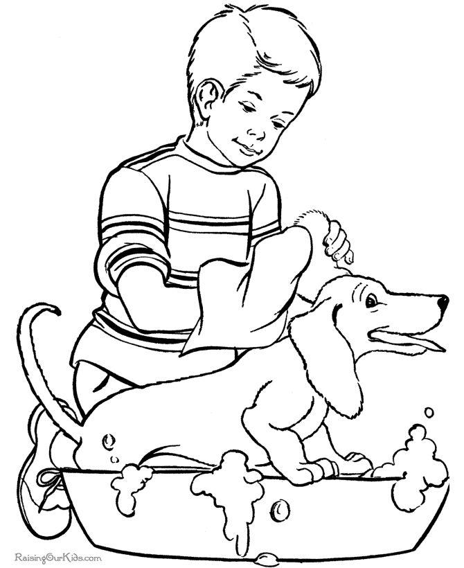 Fun Animal Coloring Page Of Pet Dog