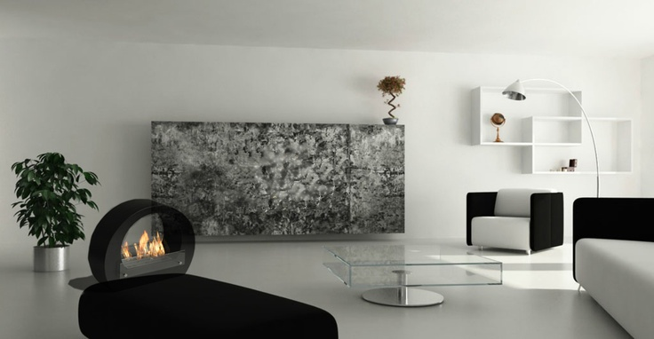 Ananda ethanol fireplace from zenflames.com