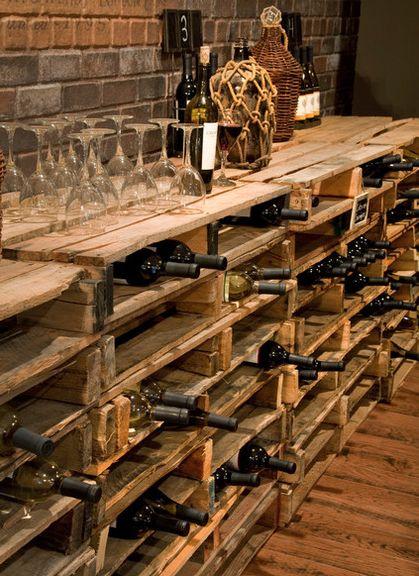 Pallet wine storage