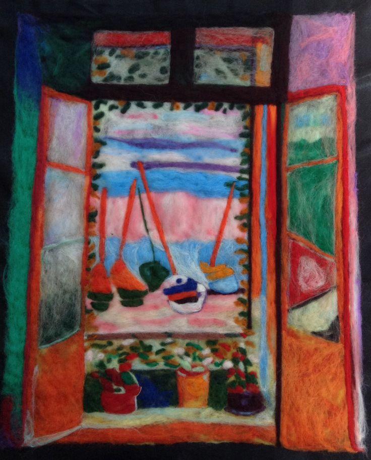 """Leitura em Lã - """"Matisse"""" - The Open Window."""