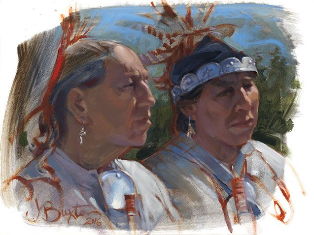 Seneca Head Study | John Buxton Historical Art kp