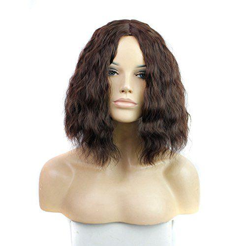 Royalvirgin courte perruque brune ondulée vague pour la partie pas cher prix Bob coupe perruque synthétique extensions de cheveux pour la…