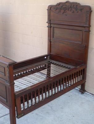 Antique Victorian toddler bed