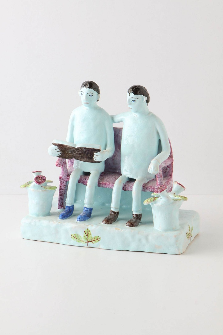 """Entirely handmade by the innovative South African ceramicist Nico Masemula, whose skill belies his youth, these green friends are cheerfully quirky, combining a bit of surrealism with an African folk-art aesthetic.  - One of a kind - Ceramic - Wipe with soft, dry cloth - 10.25""""H, 11""""W, 5.75""""D - Handmade in South AfricaThis item will ship via UPS Ground and is only available for delivery within the continental United States. Shipment to international locations, U.S. territories, AK, HI, P.O…"""