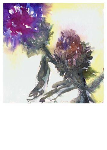 Artischockenblüte