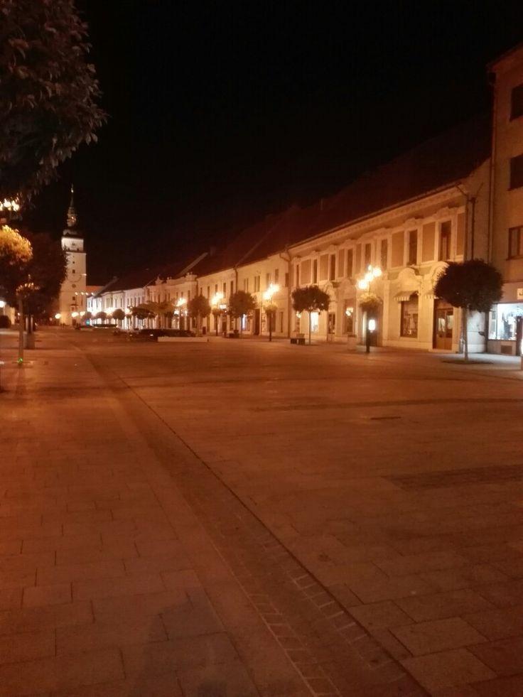 Trnava in the night, Slovakia