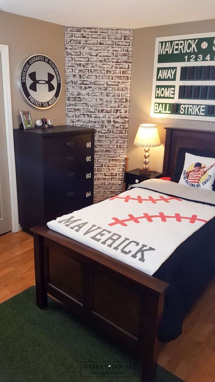 Boys Dream Baseball Room