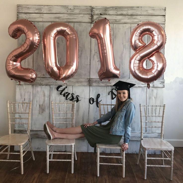 2018 Graduation Balloons Rose Gold Graduation Party 40 Inch Helium Mylar Free S&H | graduation party ideas, graduation party ideas decorations, gradua...