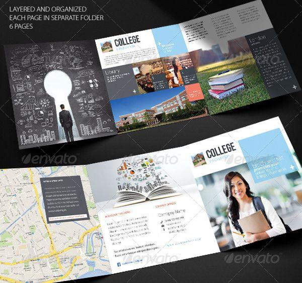 Brosur Sekolah - Square Trifold Brochure