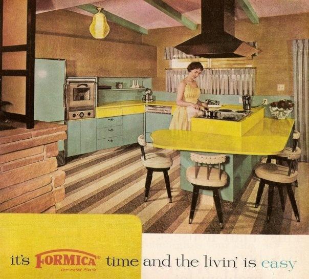 Formica Werkblad Keuken : Retro Formica Laminate Kitchen Countertops