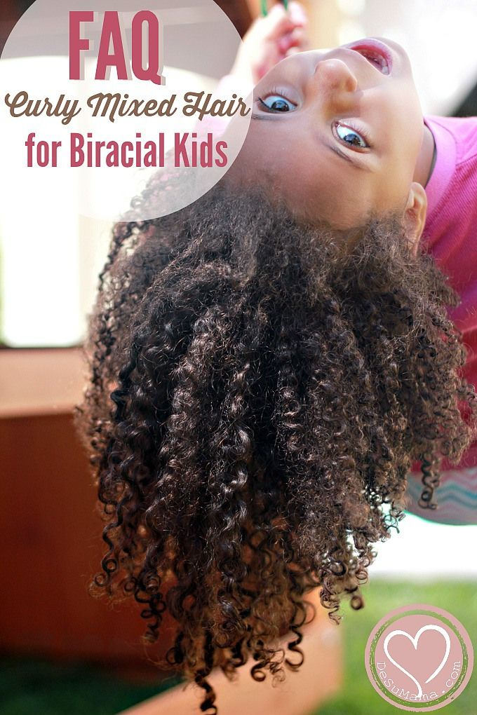 Curly biracial hair tips for multiracial children