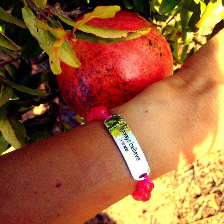 Pomegranates & Lemons in a paradise garden... Always believe. Engraved stainless steel and gemstones bracelet to remind you that belief is what makes things come to life. Buy the bracelet in my online shop: http://ift.tt/2usC9MA and follow for inspiration. I design & sell motivational gemstone bracelets made of stainless steel gemstones and adjustable with a strong knitting cord. You can wear even to swimming and shower and they will not have a scratch.  New blog post about a life on the…