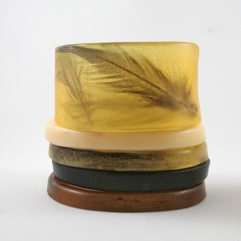 Beautiful, durable resin bangles.