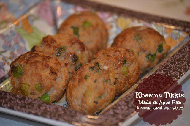 Kheema Tikkis Made in appe pan. Less oil, less calories
