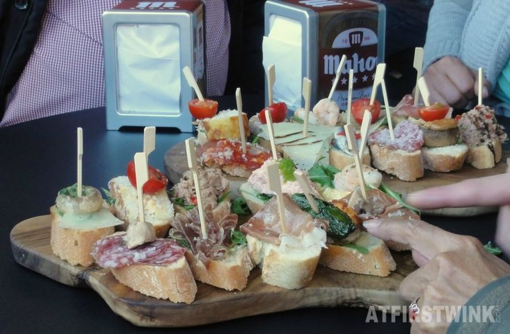 21 pinchos tapas bar markthal rotterdam many kinds of tapas on french baguette