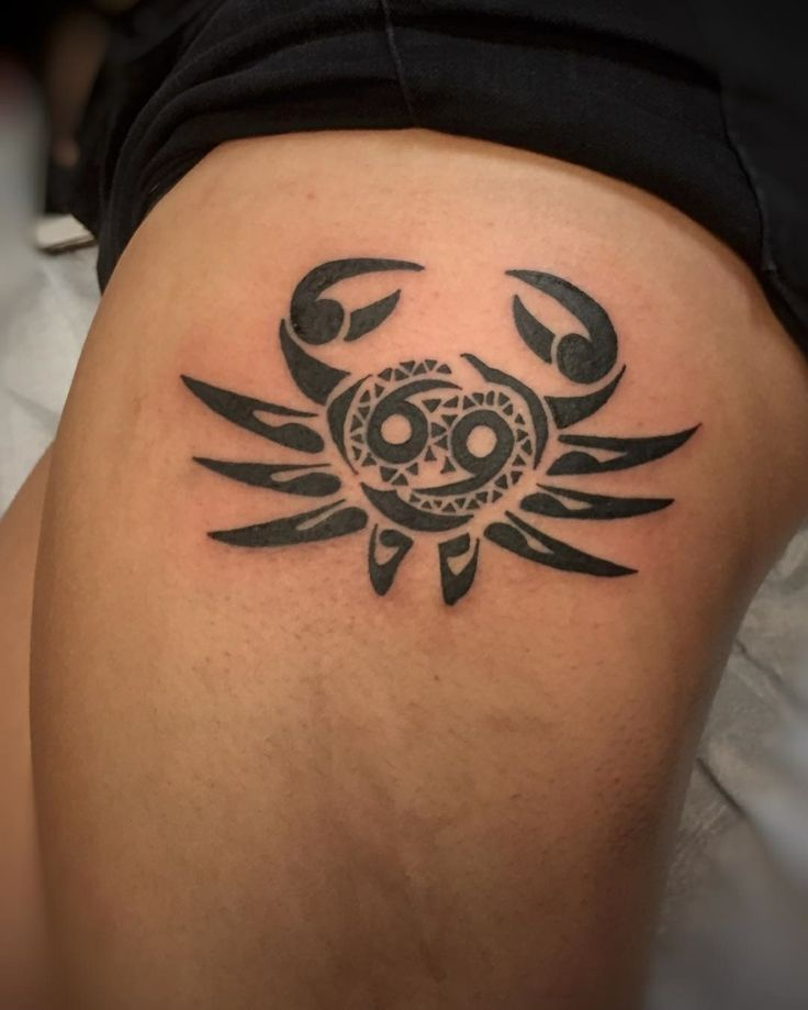 tatuajes de signos cancer al estilo tribal