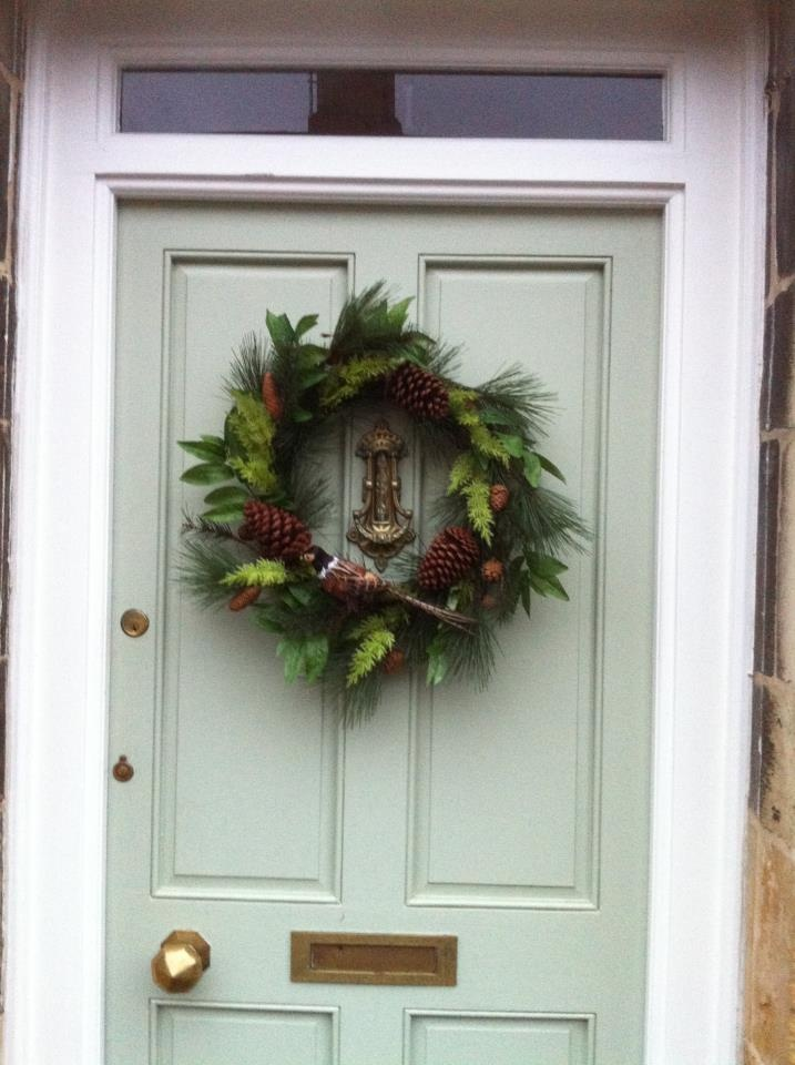 A Front Door Painted In Farrow U0026 Ball Vert De Terre, Beautifully  Complements The Darker Shades Of This Advent Wreath