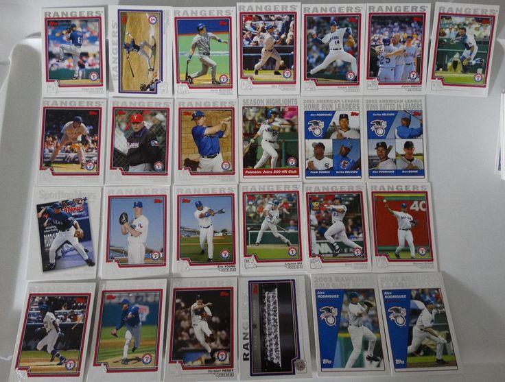 2004 Topps Series 1 & 2 Texas Rangers Team Set of 25 Baseball Cards #topps #TexasRangers