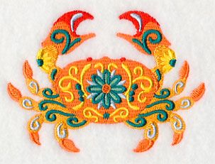 Flower Power Crab design (M5076) from www.Emblibrary.com