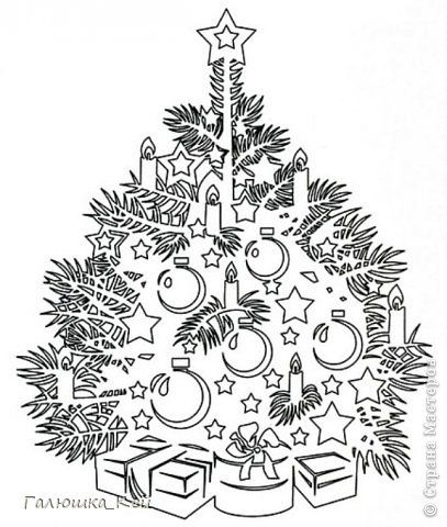 Поделка изделие Новый год Вырезание Новогодняя елка Бумага фото 2