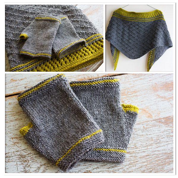 châle douillet-mitaine tuto tricot gratuit.