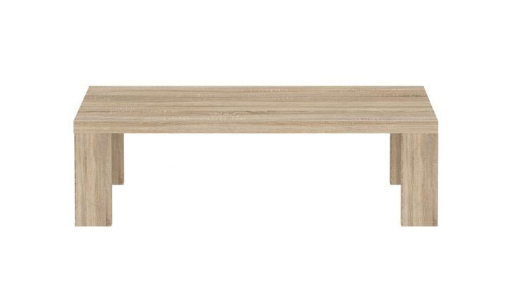 Couchtisch Mona II Hochwertige Möbelserie passend zu den Wohnprogrammen in Sonoma Eiche 1 x Couchtisch ABS an den Seitenkanten (Stirnholz) Maße Tisch:  B/H/T 120...