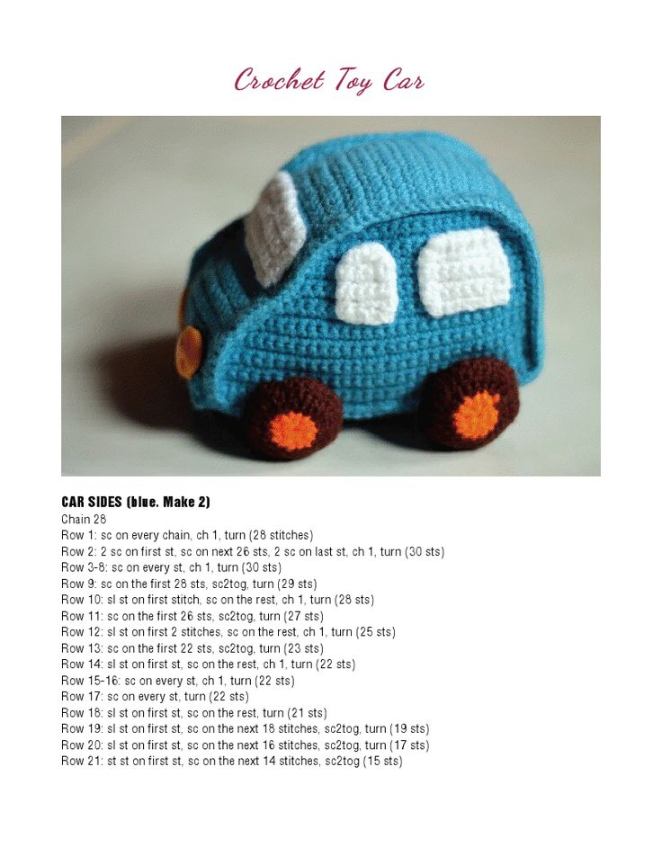 Amigurumi Free Pattern Car : 1000+ images about Knitting and Crochet Toys on Pinterest ...