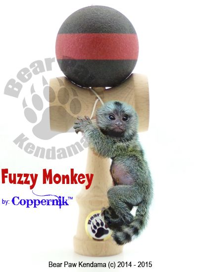 The Fuzzy Monkey by CopperniK is the Ultimate in grabber. Many loved our Frictions and this is the next generation of our Friction kendamas.This product was over a year in testing and development. We wanted a product painted in USA that had an even better grab then our previous Frictions. From beginner to those looking for consistency, this is it!The first color in the line up launch is this black and red striped. There will be more colors released.
