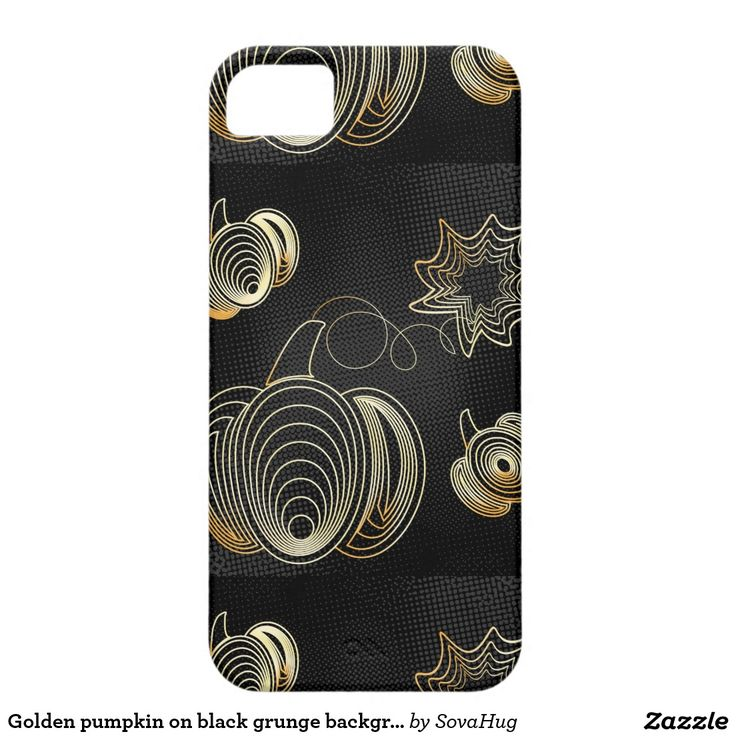 Golden pumpkin on black grunge background barely there iPhone 5,  case, Thanksgiving gift ideas.