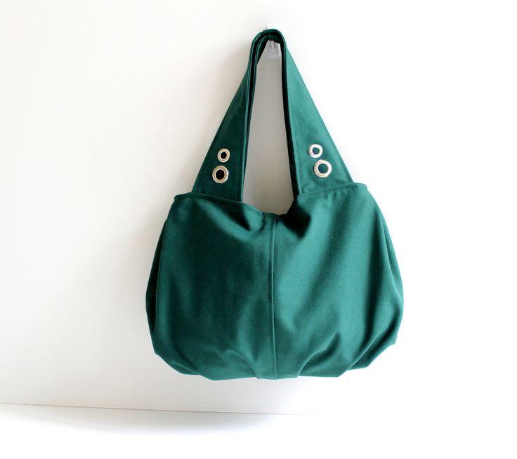 Grandy Large Hobo Bag in Emerald