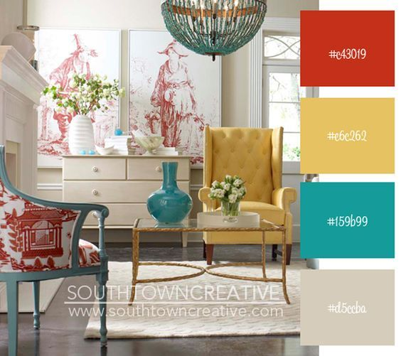 20 Charming Blue And Yellow Living Room Design Ideas: Best 10+ Red Yellow Turquoise Ideas On Pinterest