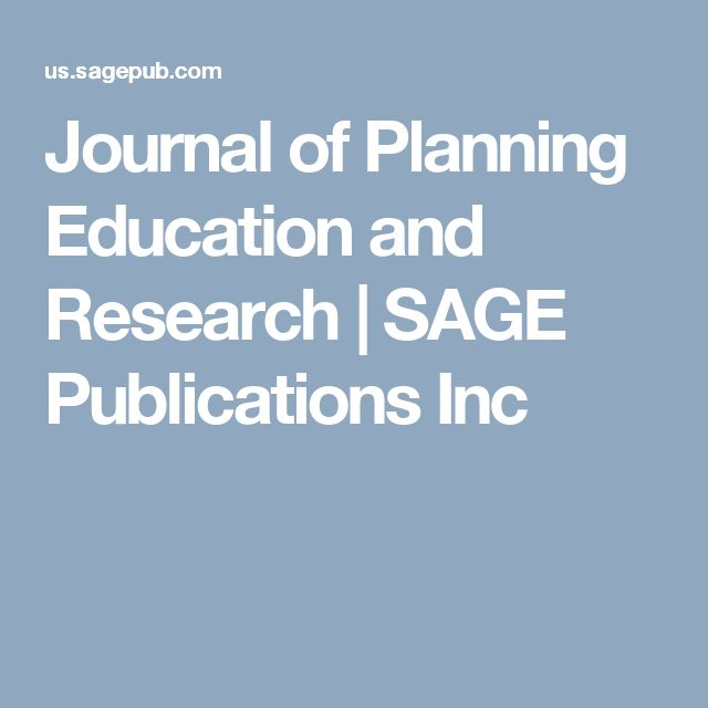 Journal of Planning Education and Research   SAGE Publications Inc