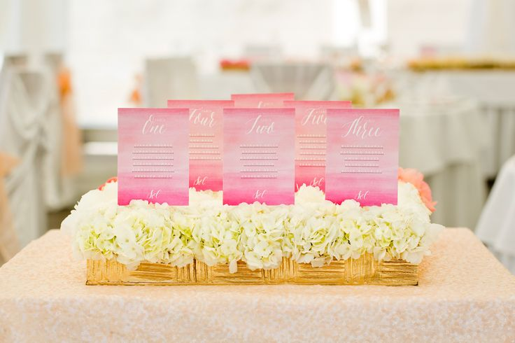 Wedding seating plan / Zasedací pořádek
