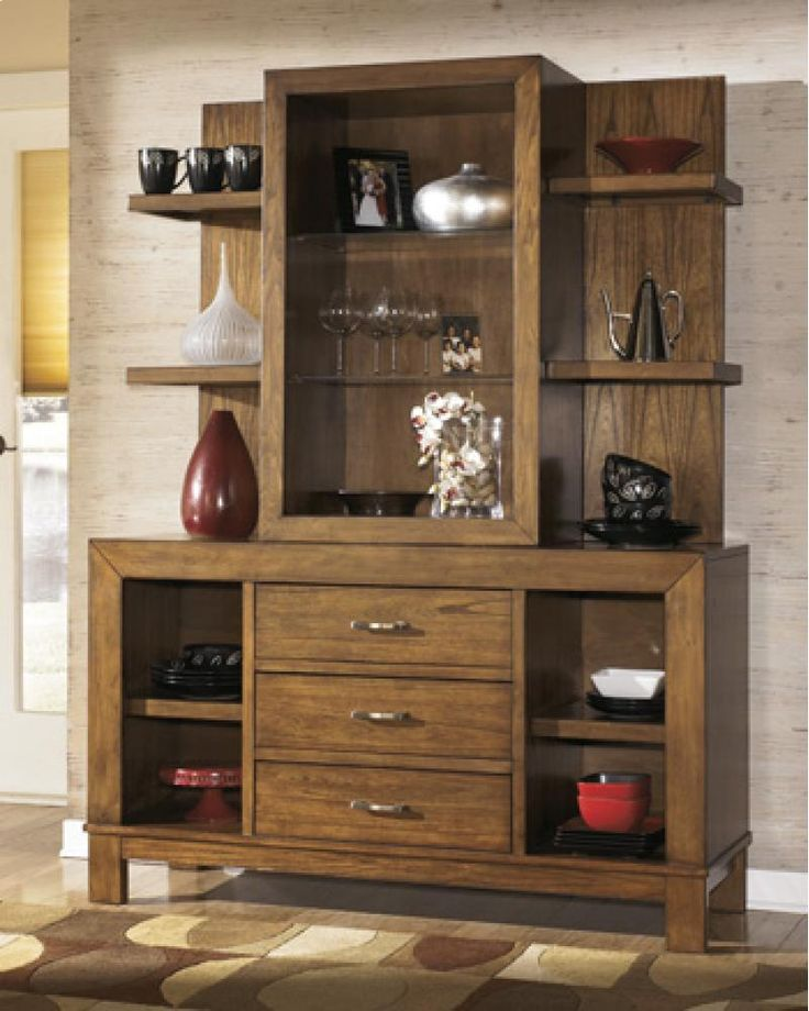 Signature Design By Ashley Wataskin Contemporary Dining Room Buffet U0026 Hutch    Wilsonu0027s Furniture   China Cabinet Bellingham, Ferndale, Lynde. Part 57