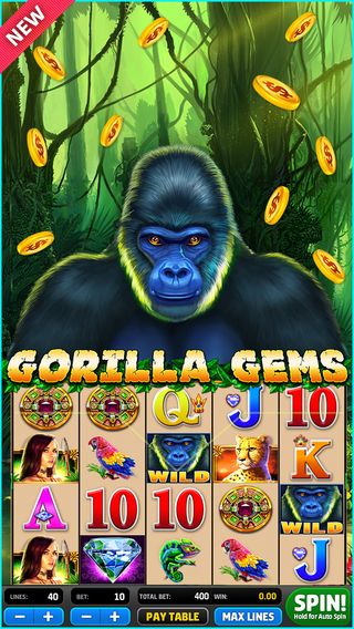 Gorilla Gams, nice online casino game, nice online slot machine, nice game graphic, nice game illustration