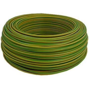 Conductor rigid FY 2.5 verde-galben folie 100M