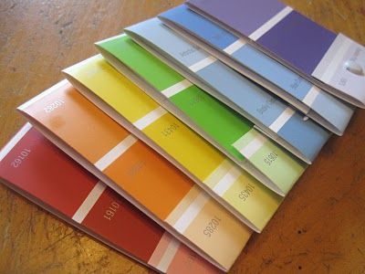 little notebooks from paint swatches!