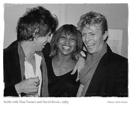 Keith with Tina Turner & David Bowie 1983.
