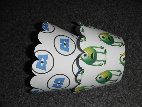 Mike Monsters University Cupcake Wrappers Set of 12 Monster Inc Mike and Sully