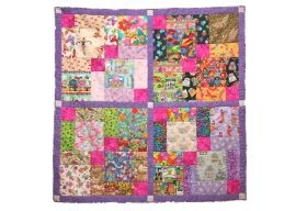 """""""Sugar and Spice"""" I-spy quilt for girls"""