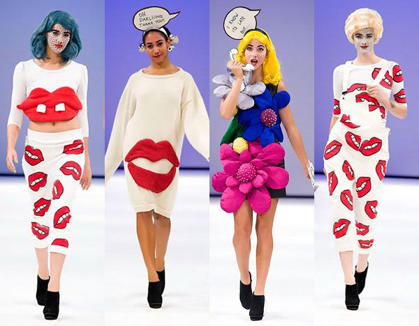 Roy Lichtenstein fashion tribute!