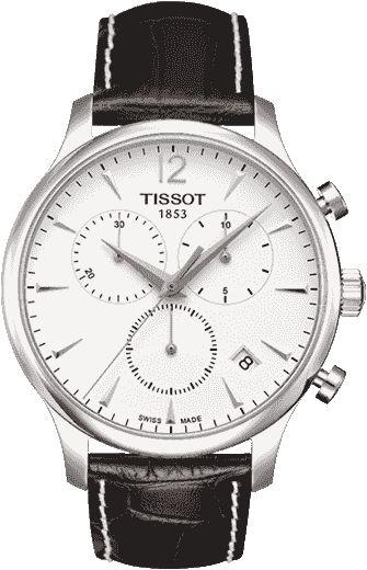 Часы Tissot Tradition, белый циферблат (черный ремешок ...