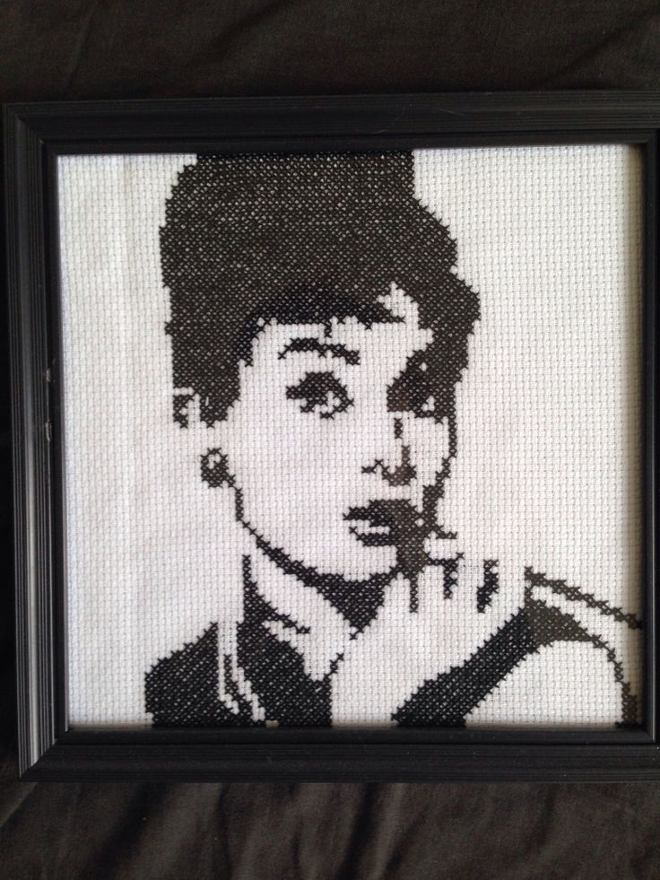 Cross stitch pattern - Audrey Hepburn