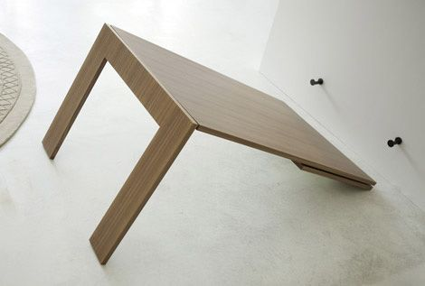 Is this a mirror or a table? Both… a mirror unfolds into a modern contemporary folding dining table. A really amazing piece of furniture from [...]
