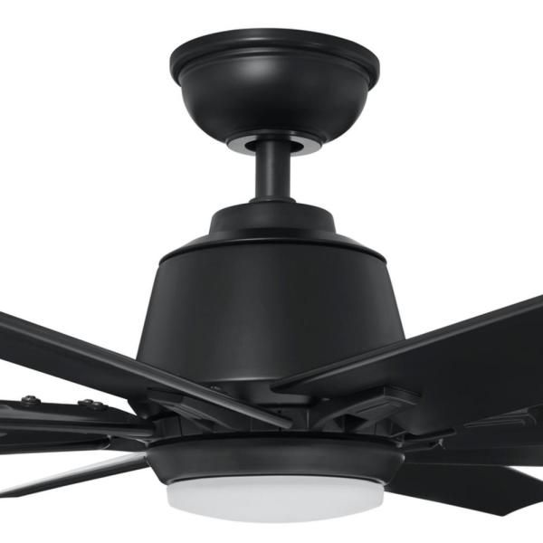 Home Decorators Collection Kensgrove 72 In Led Indoor Outdoor Matte Black Ceiling Fan With Light And Remote Control Yg493odc Mbk The Home Depot Black Ceiling Fan Ceiling Fan With Light Fan Light